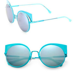 FENDI EYESHINE 0177/S AQUA/BLUE MIRROR sunglasses